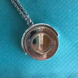 """Heads Tails Coin Flip Necklace 18"""" Sterling Silver"""